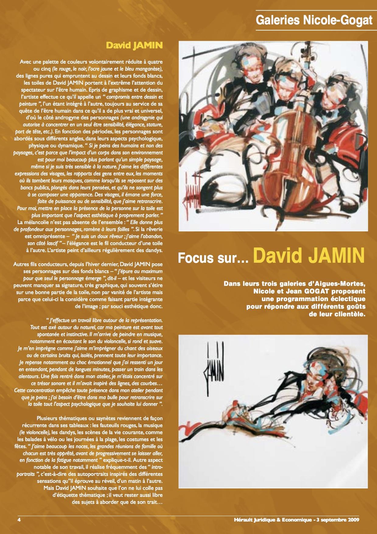 L'Hérault Juridique & Economique -  3 septembre 2009 -
