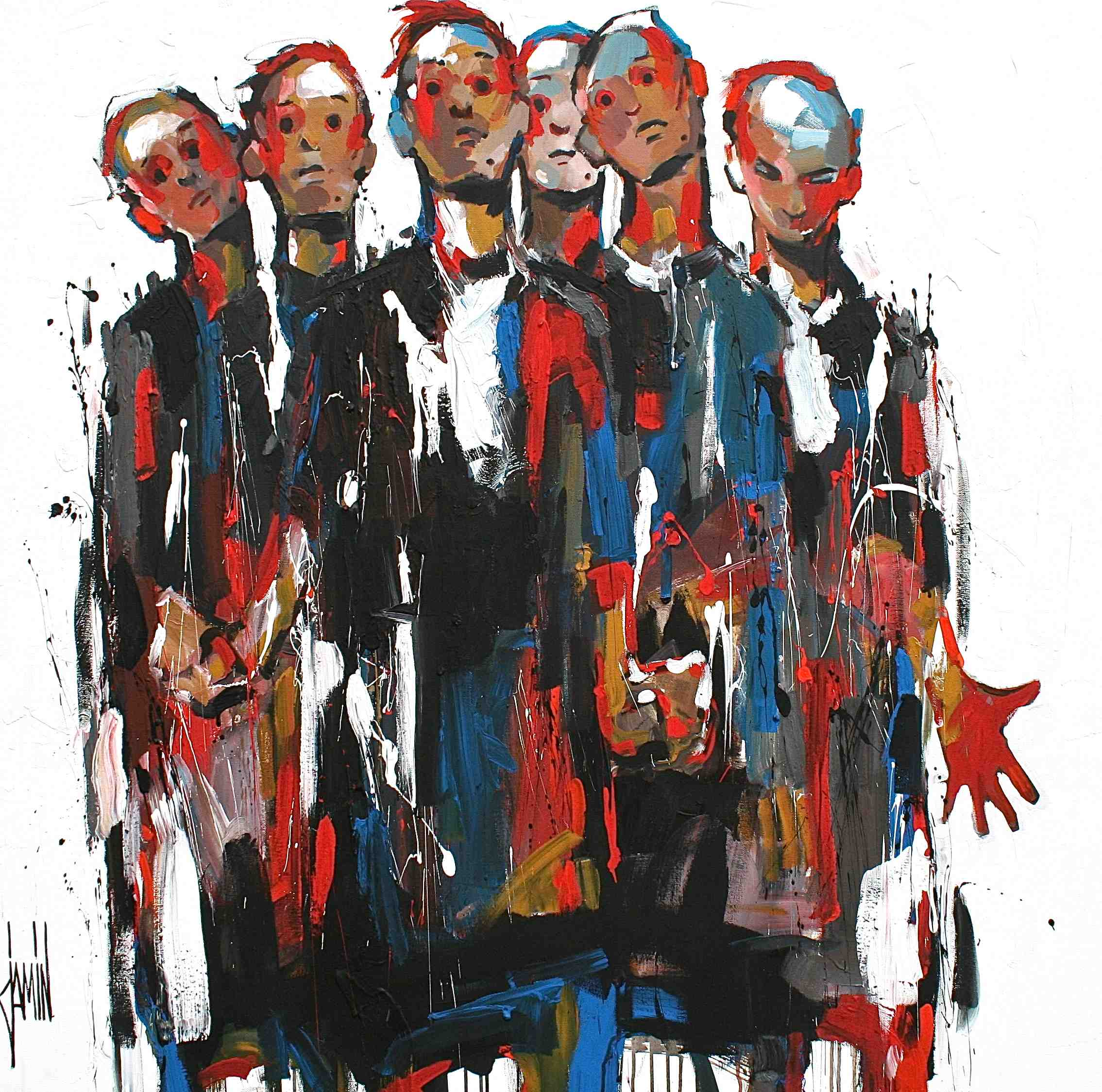 Les Bourgeois de Calais - La stupeur - acrylique sur toile - 120x120cm - année 2012
