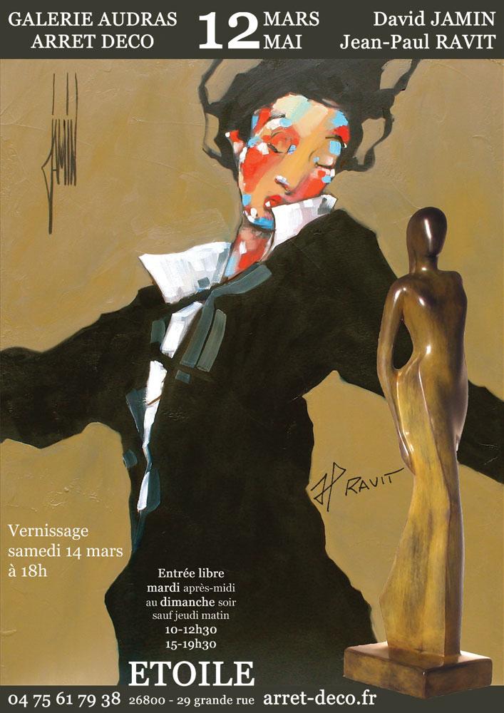 Affiche de l'exposition JAMIN-RAVIT - Etoile-sur-Rhône (26) - 2009 -