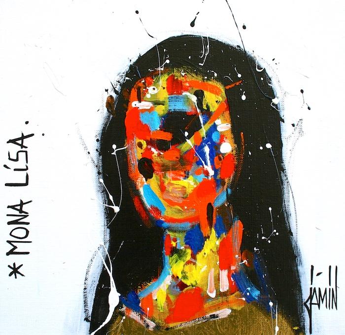 Mona Lisa - acrylique sur toile - 30x30cm - année 2018