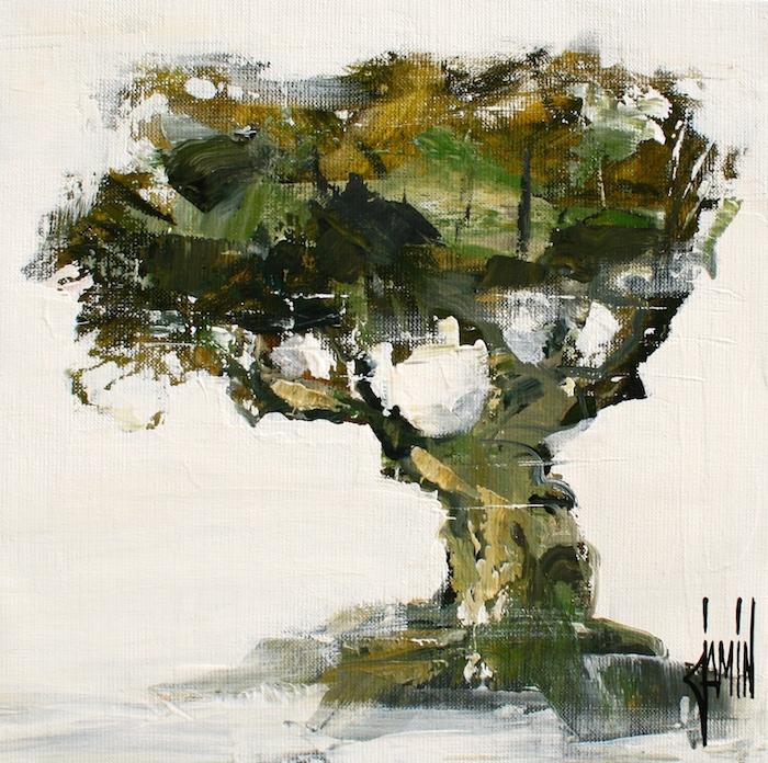 Olivier - acrylique sur toile - 30x30cm - année 2018